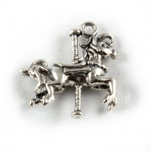 Charm School UK > Sterling Silver Charms > Animals > Carousel Horse